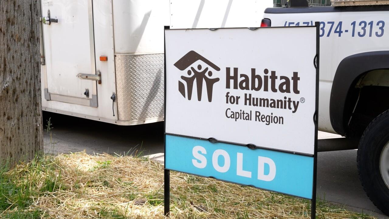 Habitat for Humanity Capital Region sold sign