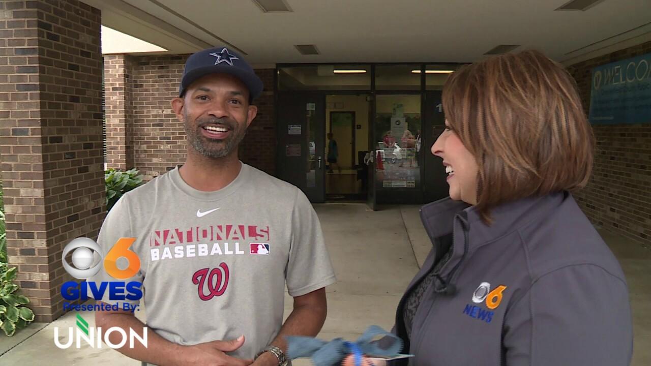 Father surprised for volunteer work at Chesterfield elementaryschool