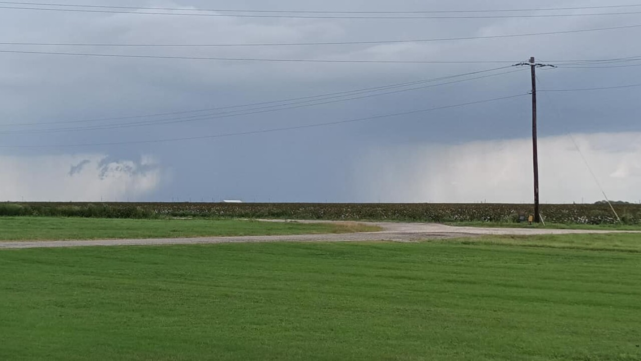 Showers out in Robstown - Photo By: FB Coastal Bend Weather Watcher Josie Johnny Sandoval