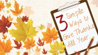 3 Simple Ways to Give Thanks All Year