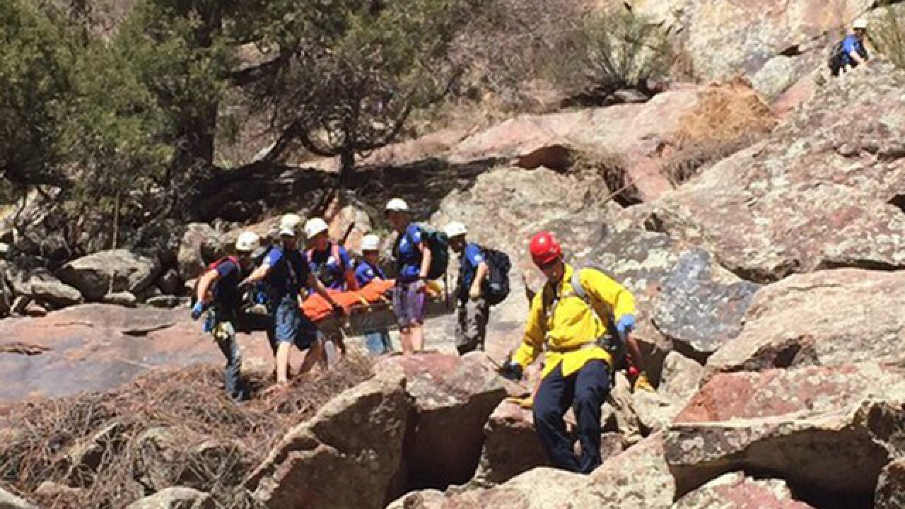 Boulder: Climber rescued after falling 70 feet