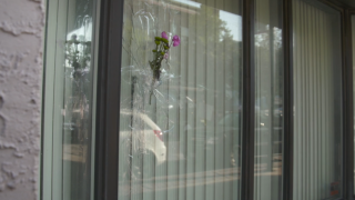 Flowers placed in bullet holes as Dayton community comes together to heal