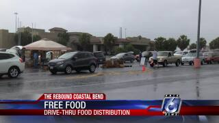 Hundreds of boxes of food given away at Thursday food distribution