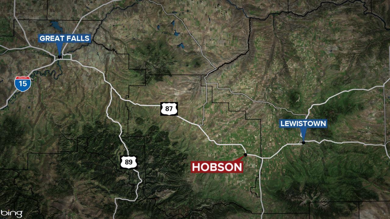 hobson montana map