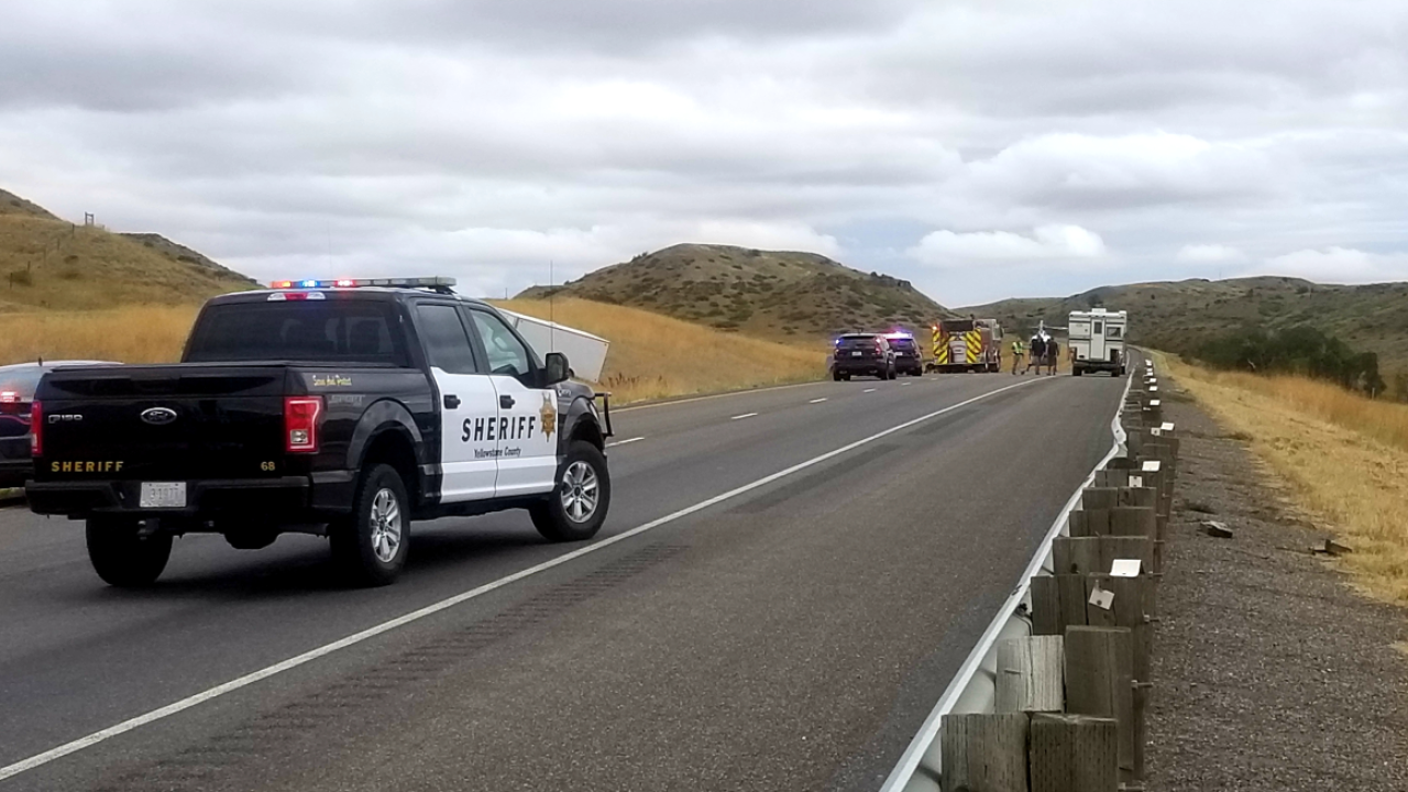 One dead after truck rollover on I-90 east of Billings