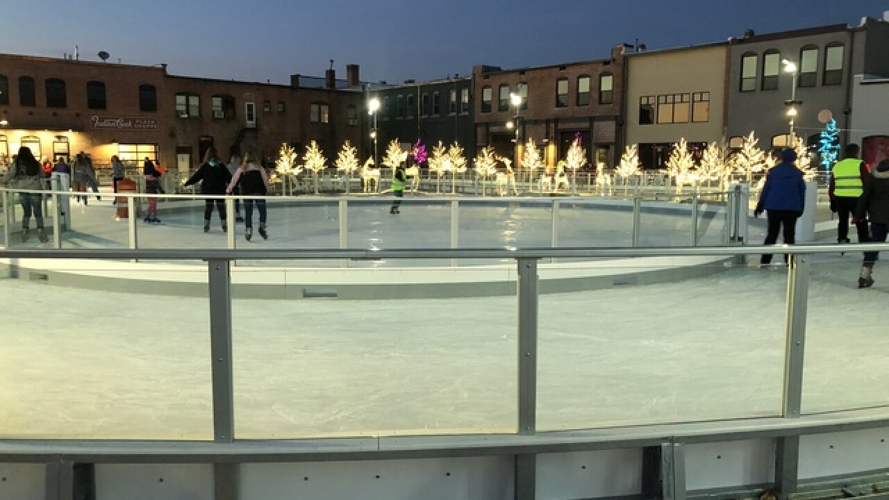 Ice ribbon in Caldwell opens