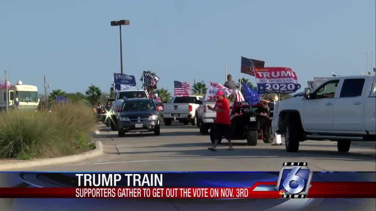 Trump Train cruises through the Coastal Bend on Saturday