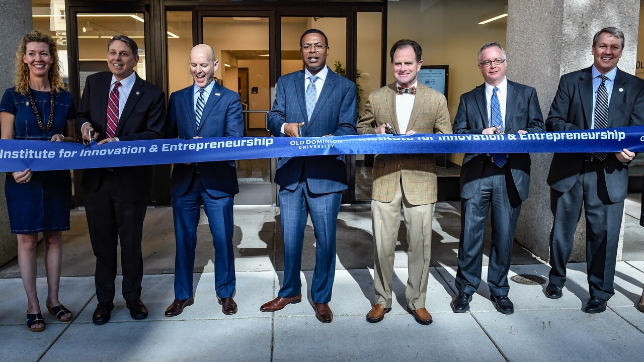 Community leaders gather for ribbon-cutting of new ODU institute