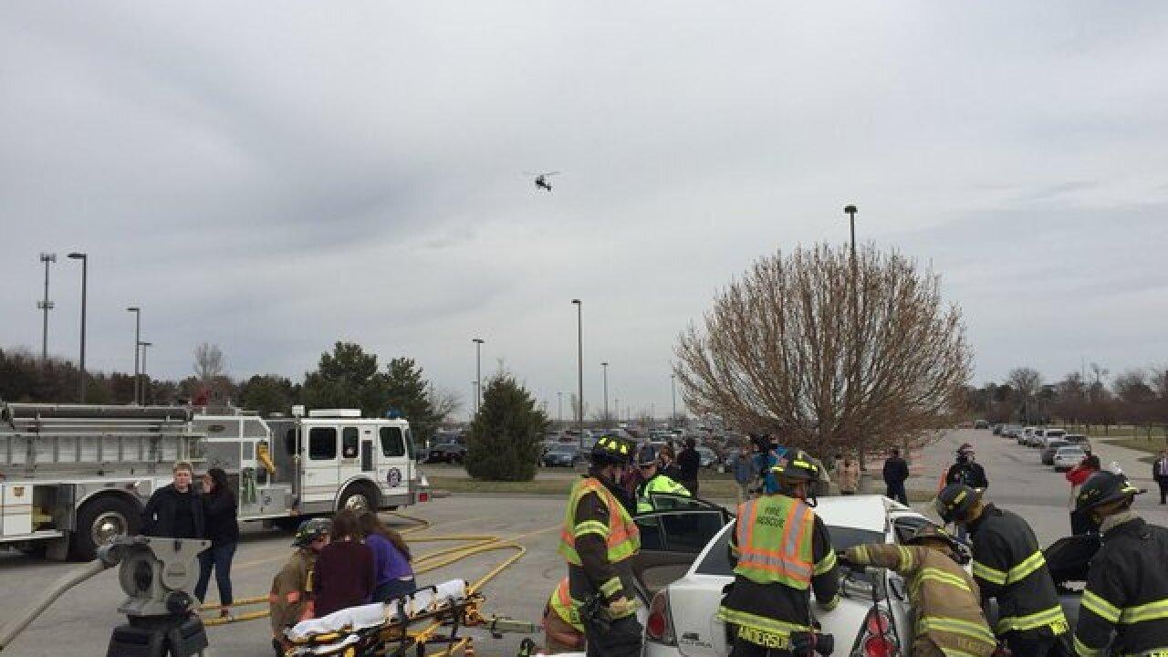 Papillion-La Vista South holds mock crash