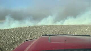 Field fire east of Great Falls on January 13, 2021