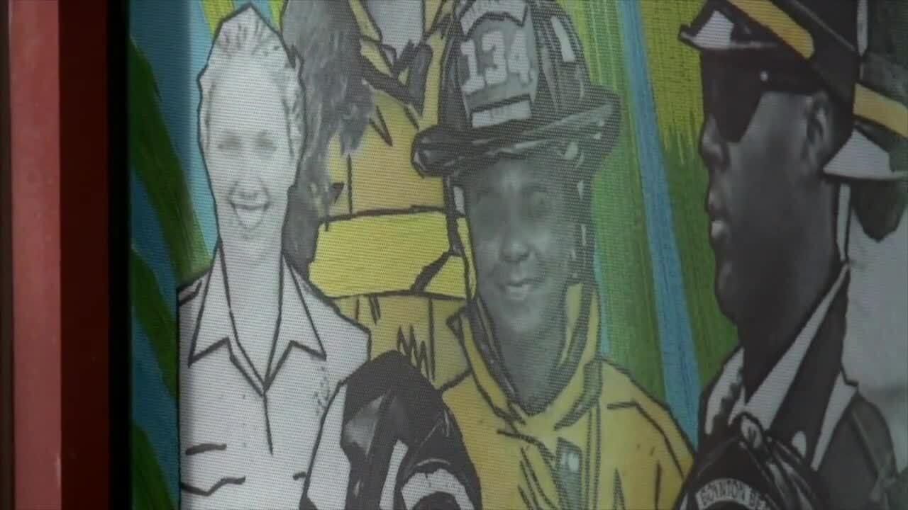 Latosha Clemons face on Boynton Beach mural after it was restored