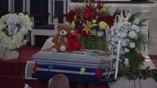 davell gardner 1-year-old shot funeral