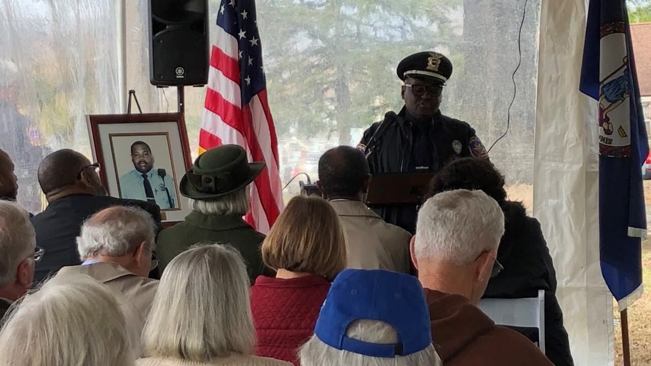 Fallen Hampton officer honored on 25th anniversary of murder