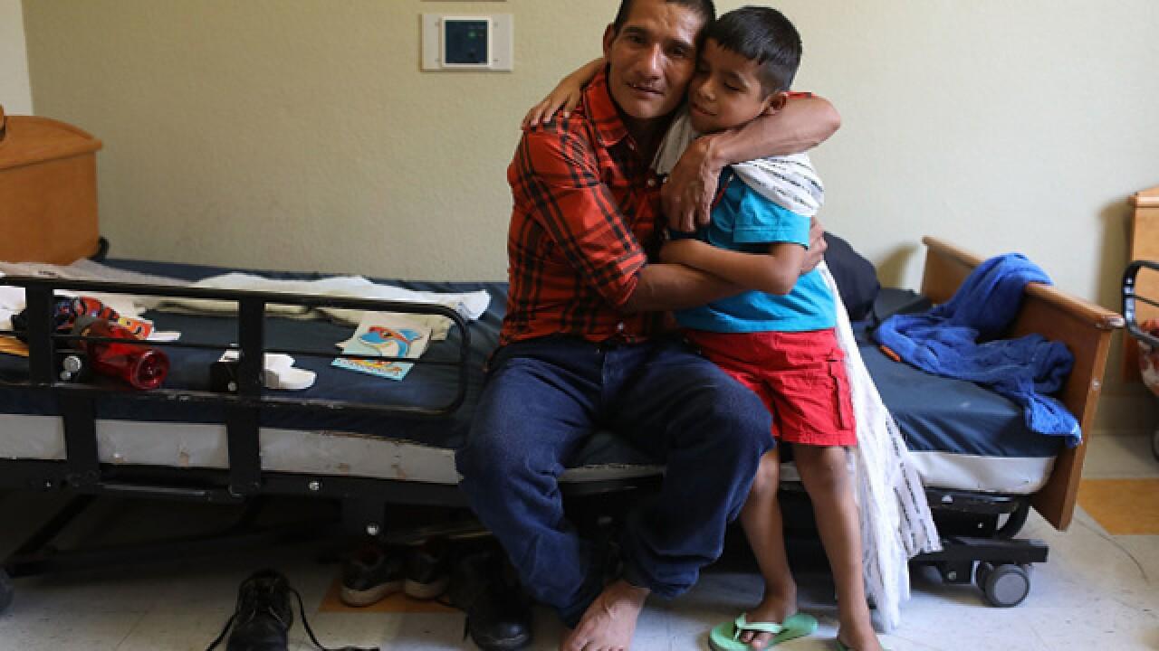 Older children split at border reunited