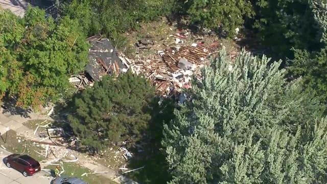 House explosion reported in Harper Woods