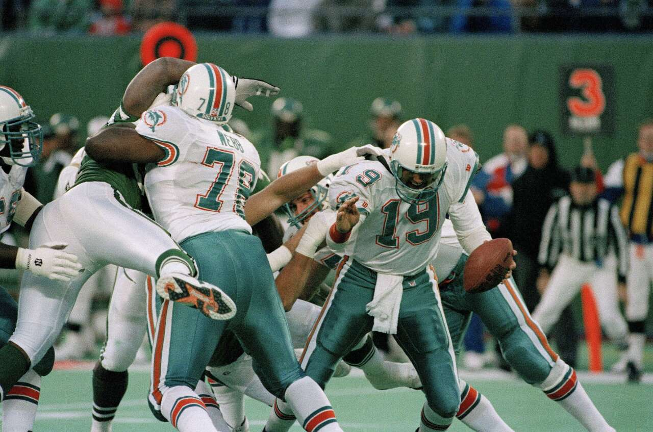 Miami Dolphins offensive tackle Richmond Webb in 1993