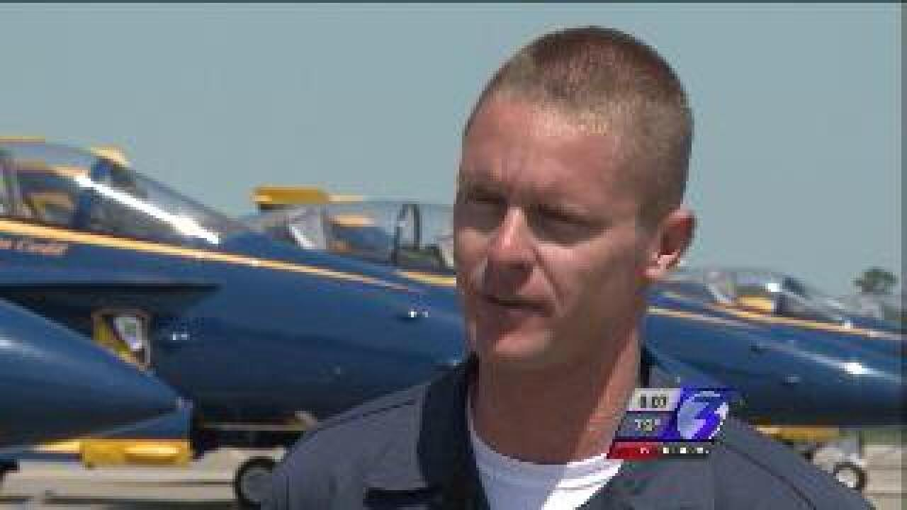 Blue Angels gearing up for air shows Friday