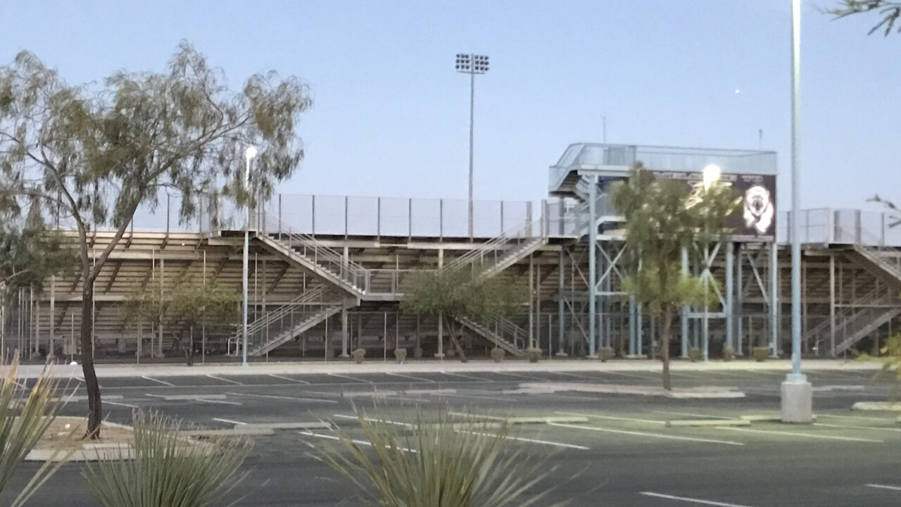 Photos of Spring Valley High School located near Buffalo and Spring Mountain in Las Vegas as seen on July 17, 2020