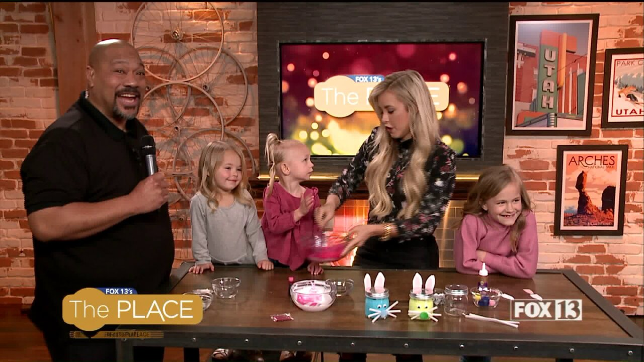 Chelsie's adorable nieces help her make an Eastercraft