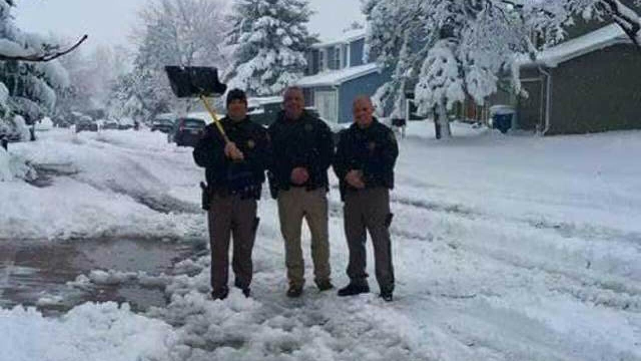 Deputies save man having heart attack shoveling