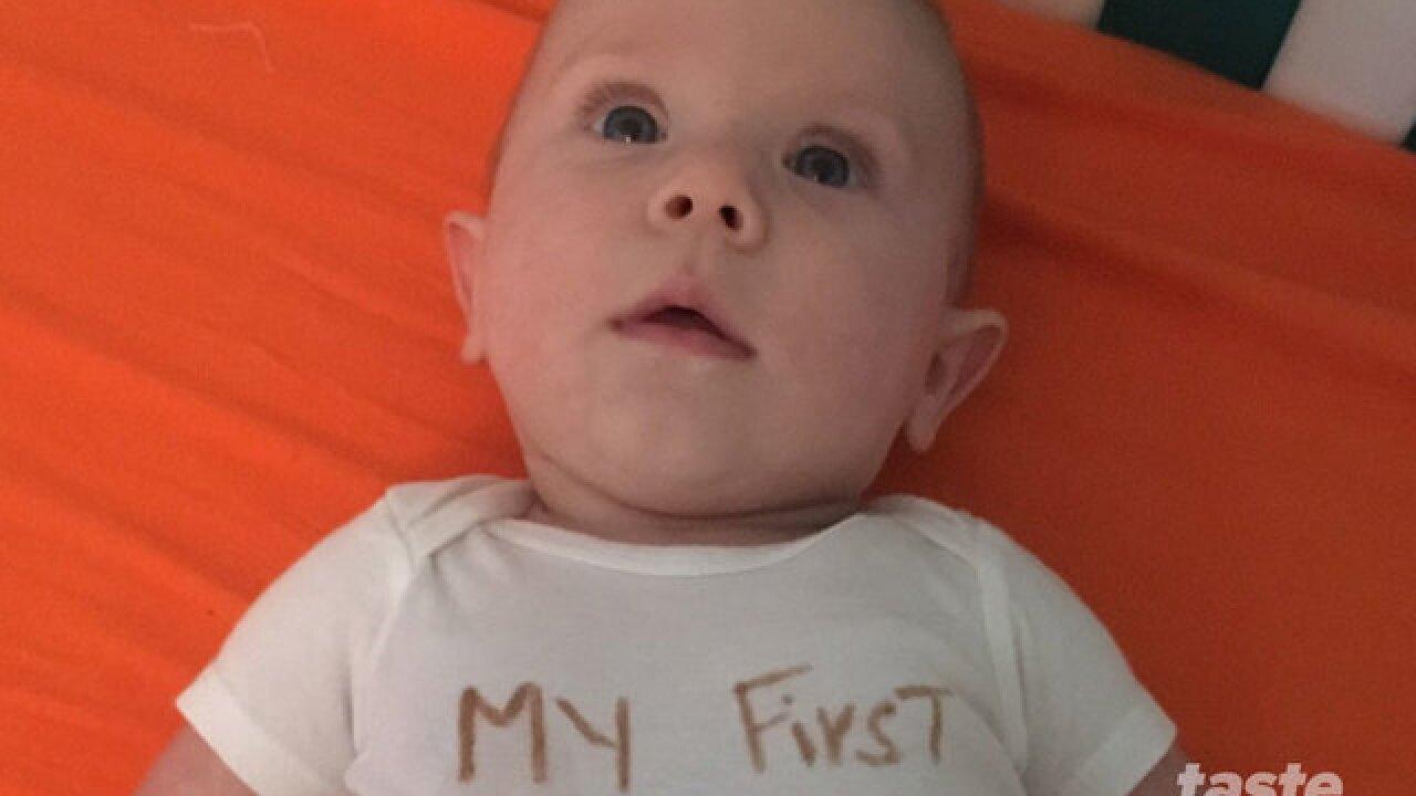 Baby's First Thanksgiving onesie idea