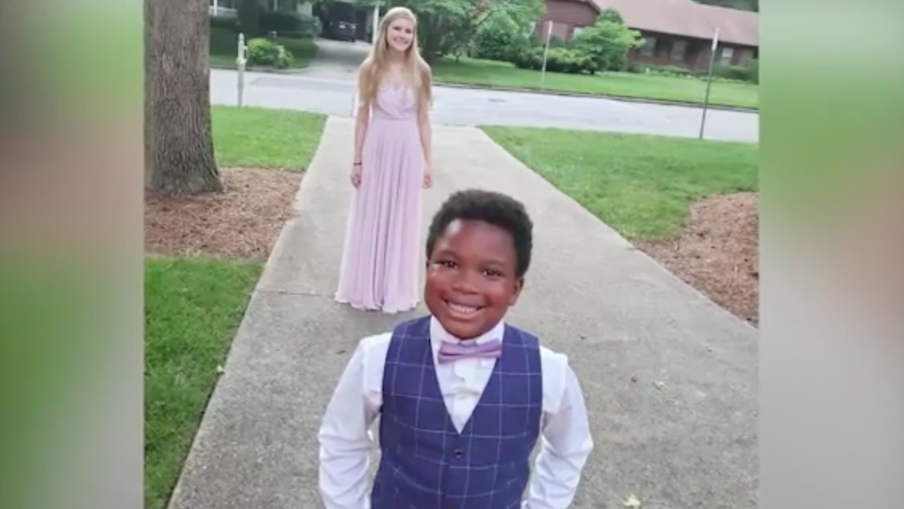 North Carolina child hosts prom for his babysitter