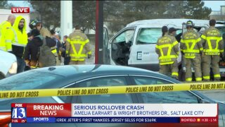 Rollover Crash on Wright Bros. Dr.