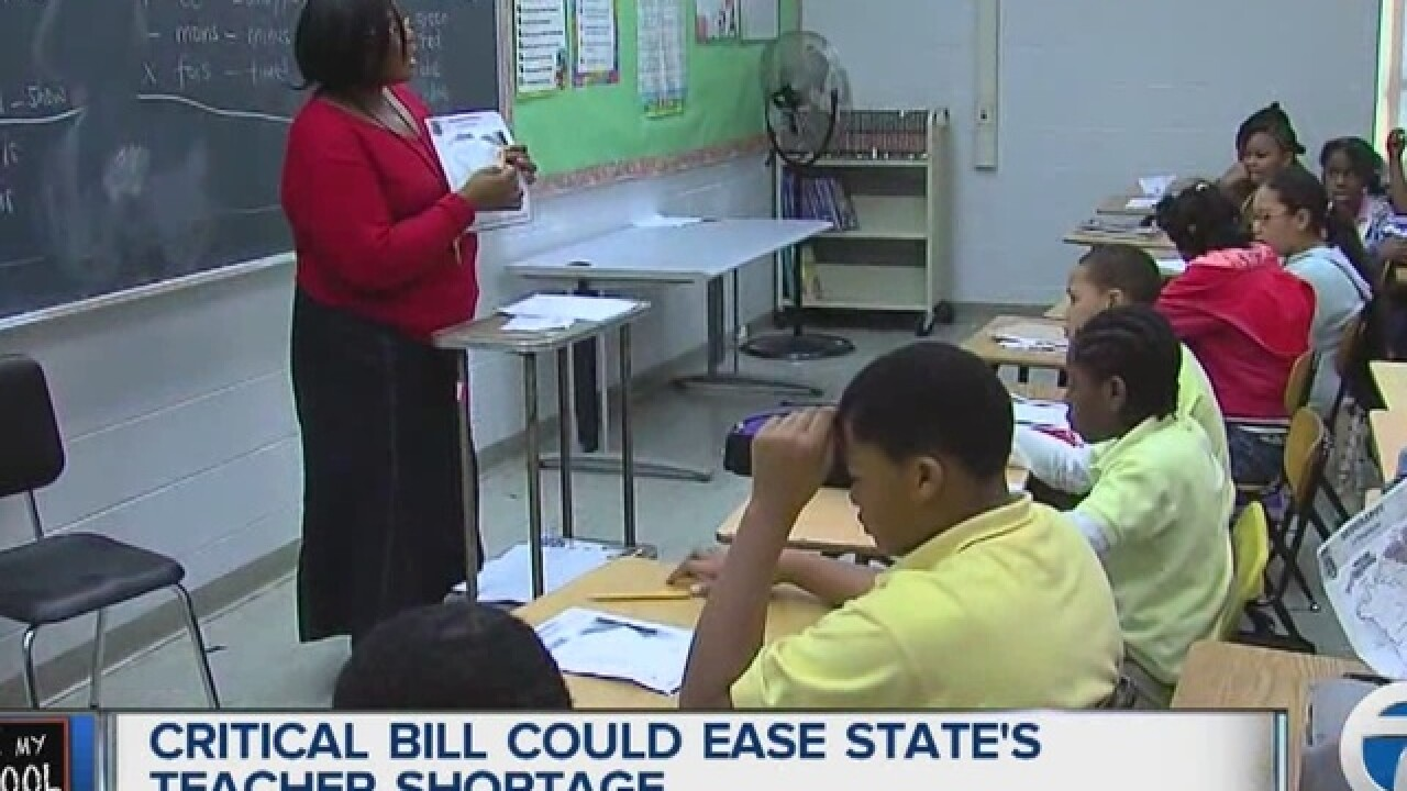 Bill passage could ease teacher shortage