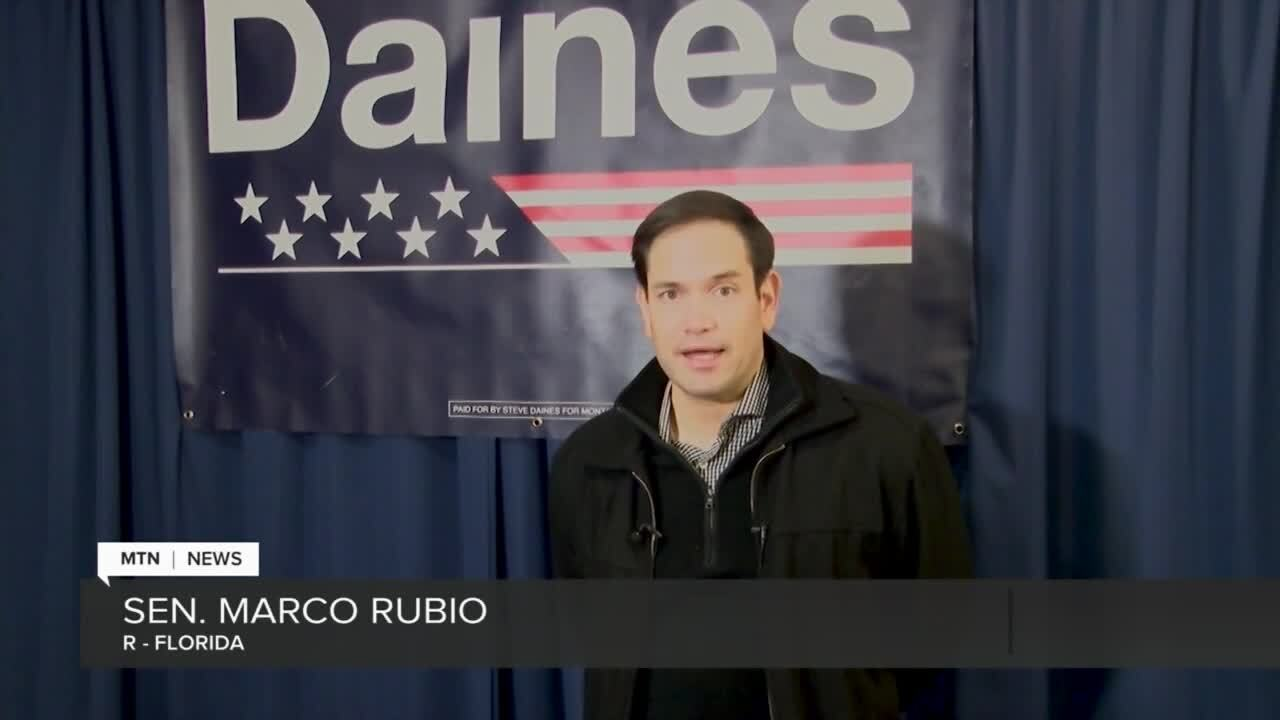Marco Rubio campaigns for Steve Daines in Great Falls