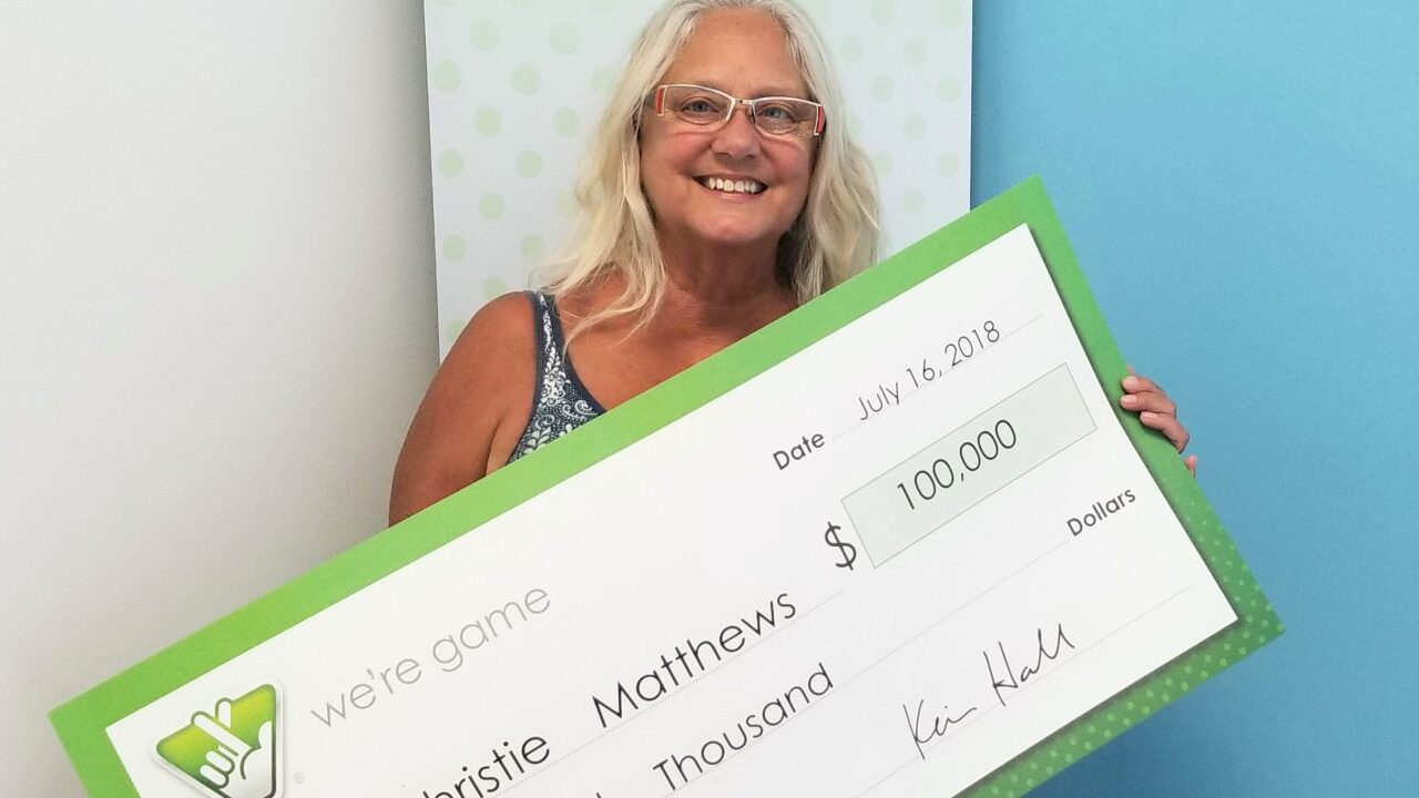 Outer Banks woman wins $100,000 from Virginia Lottery