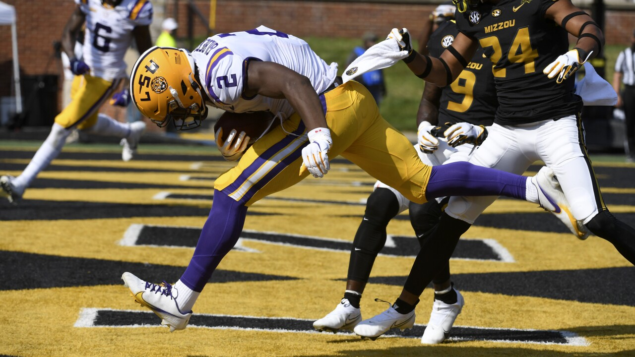 Missouri LSU Football Arik Gilbert