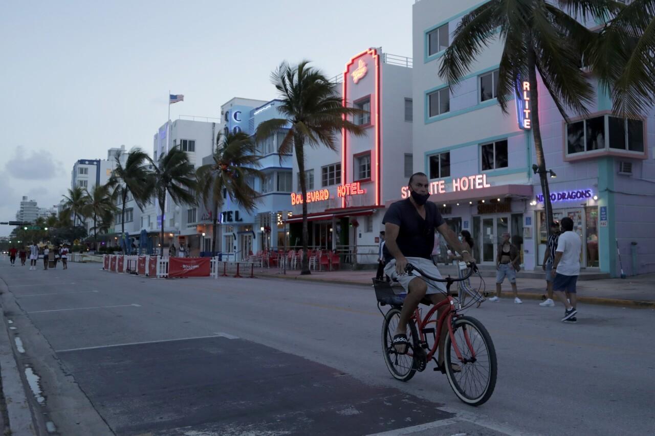 Miami Beach during July 2020 curfew