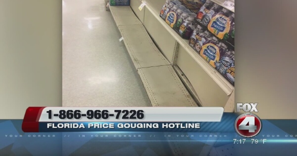 Florida Price Gouging Hotline activated