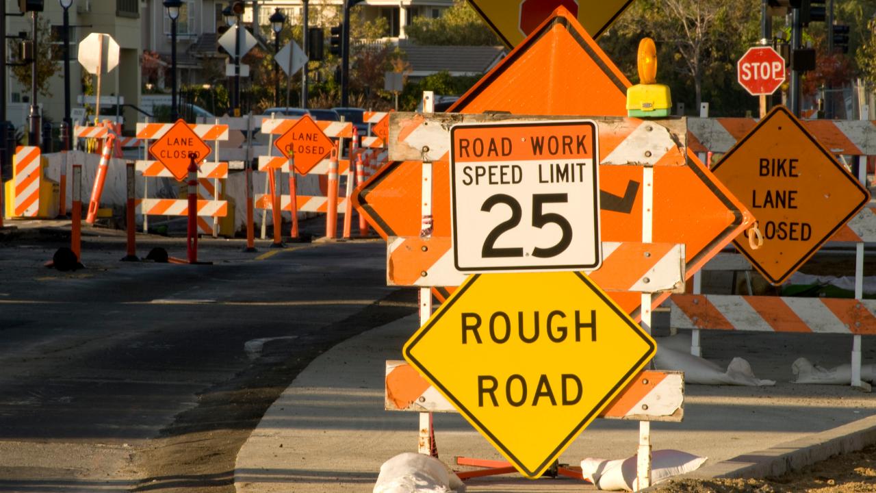 Roadwork, infrastructure (stock photo)