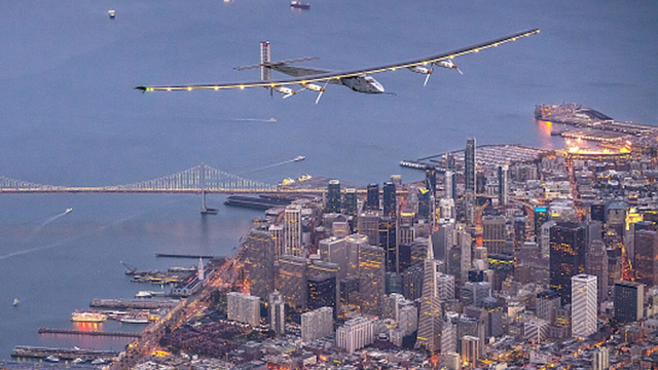 Solar-powered plane completes its round-the-world journey