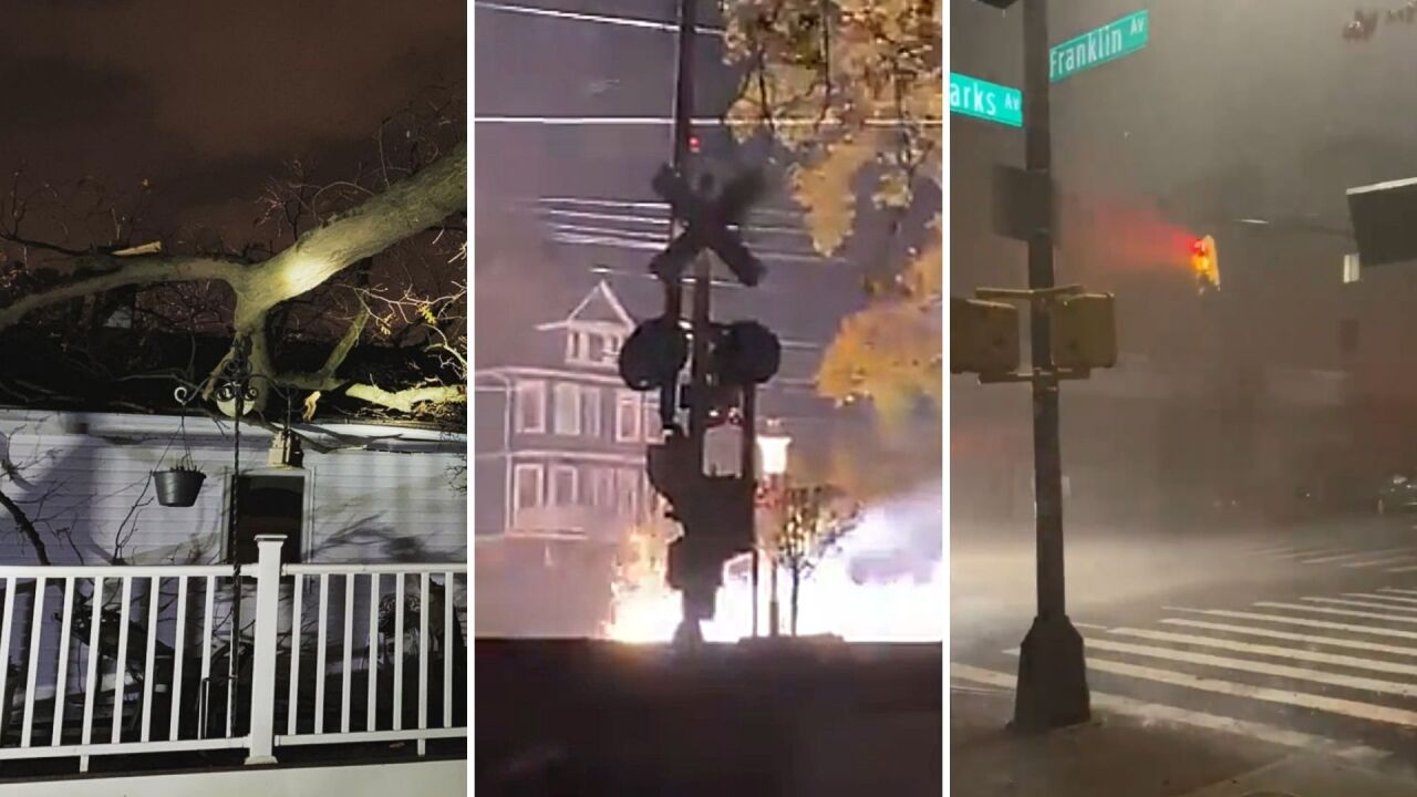 Severe storms bring downed trees, sparking wires, outages to NY, NJ