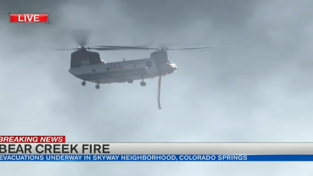 Chinook at Bear Creek Fire