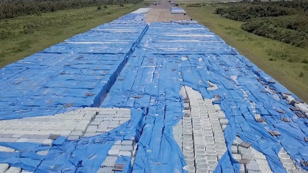 20,000 pallets of bottled water left untouched in storm-ravaged Puerto Rico