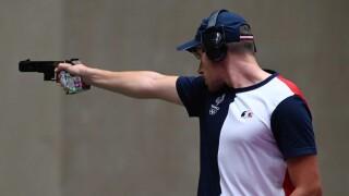 France's Quiquampoix wins rapid-fire pistol gold