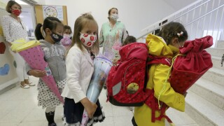 Virus Outbreak Austria School Start