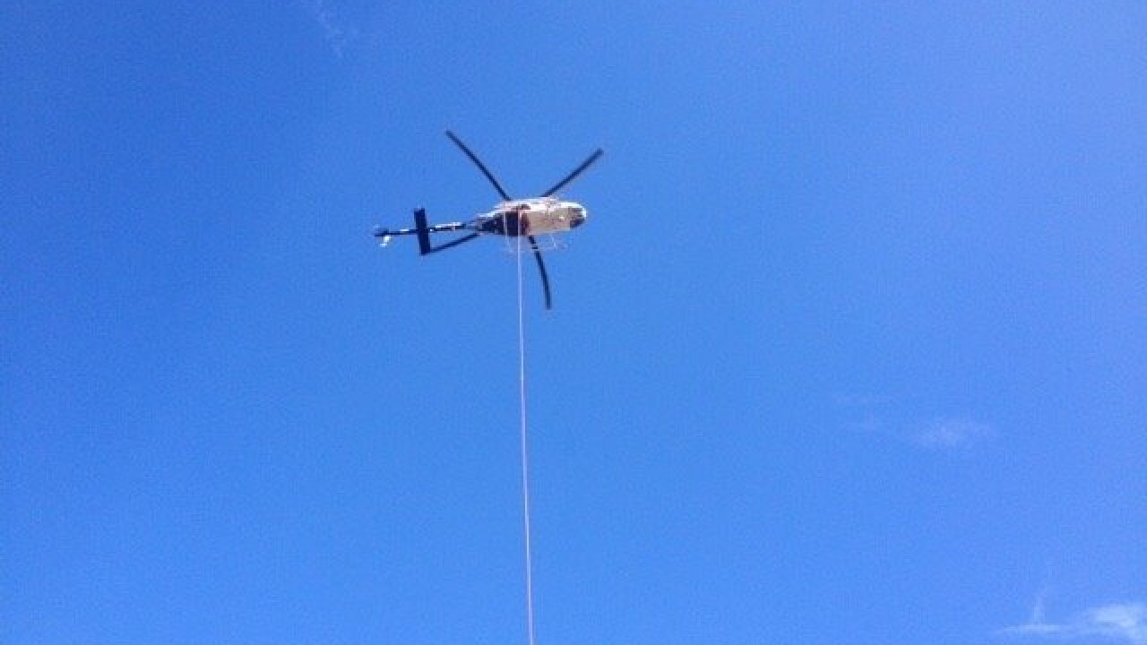 2 men rescued by helicopter after UTV accident