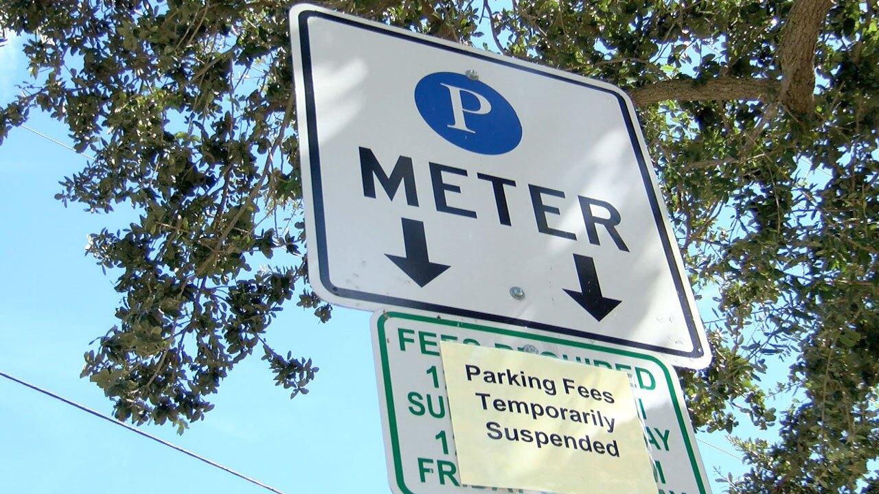 Parking meter in Delray Beach, Fla.