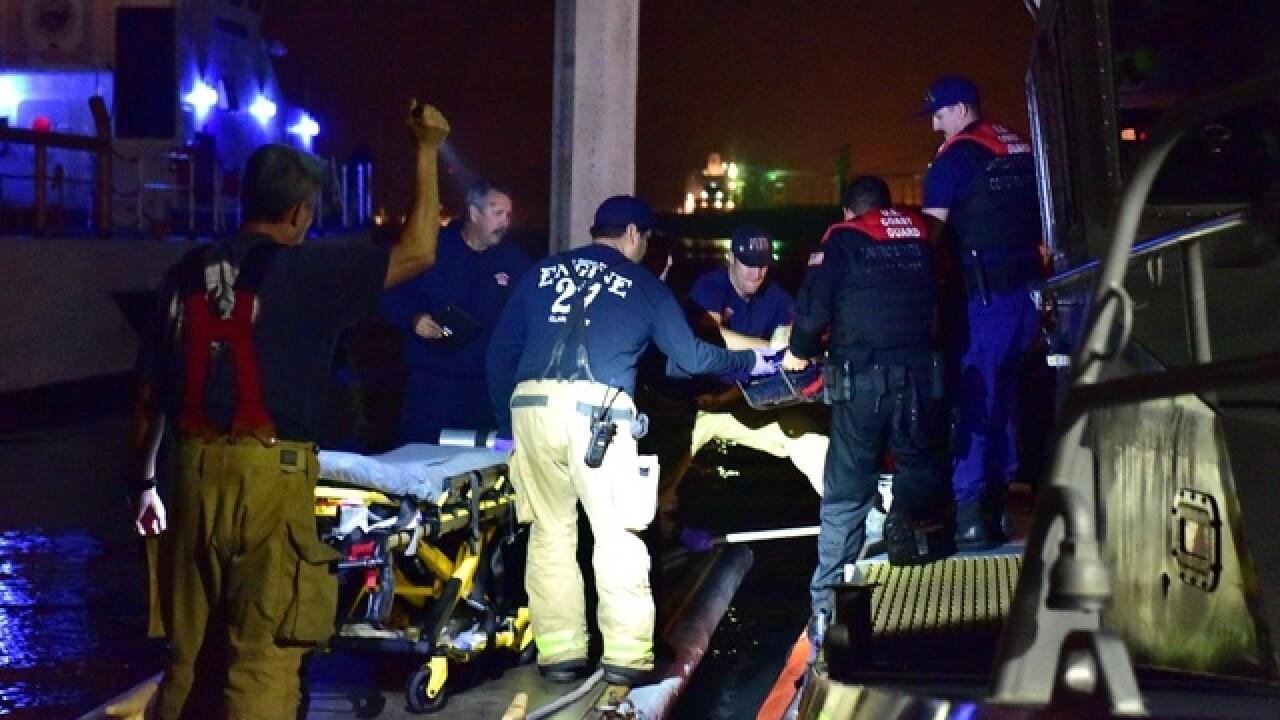 1 dead, 17 rescued in yacht, fishing boat crash