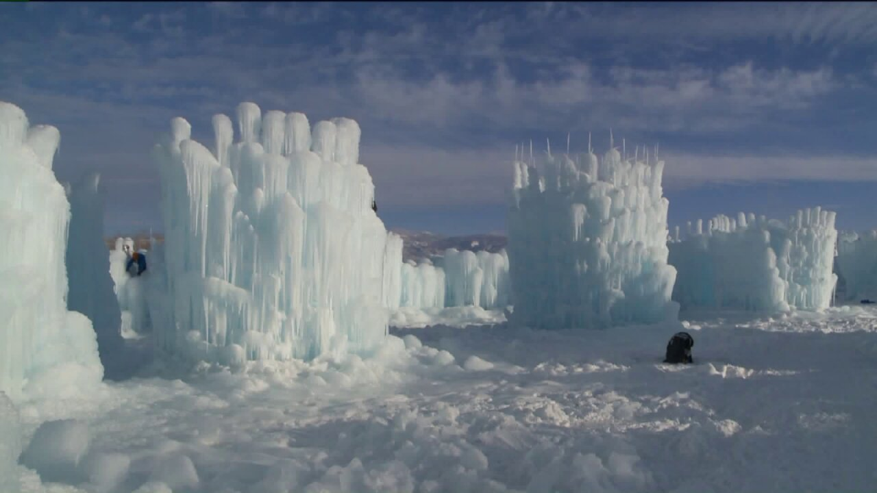 Midway Ice Castles undergo final touches prior to openingnight