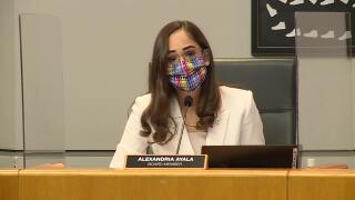 Alexandria Ayala first Palm Beach County School Board meeting, Nov. 17, 2020