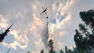 Burnt Peak Fire Water Drop