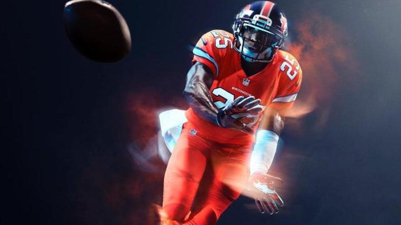 fb0f5860 Broncos Color Rush jerseys revealed