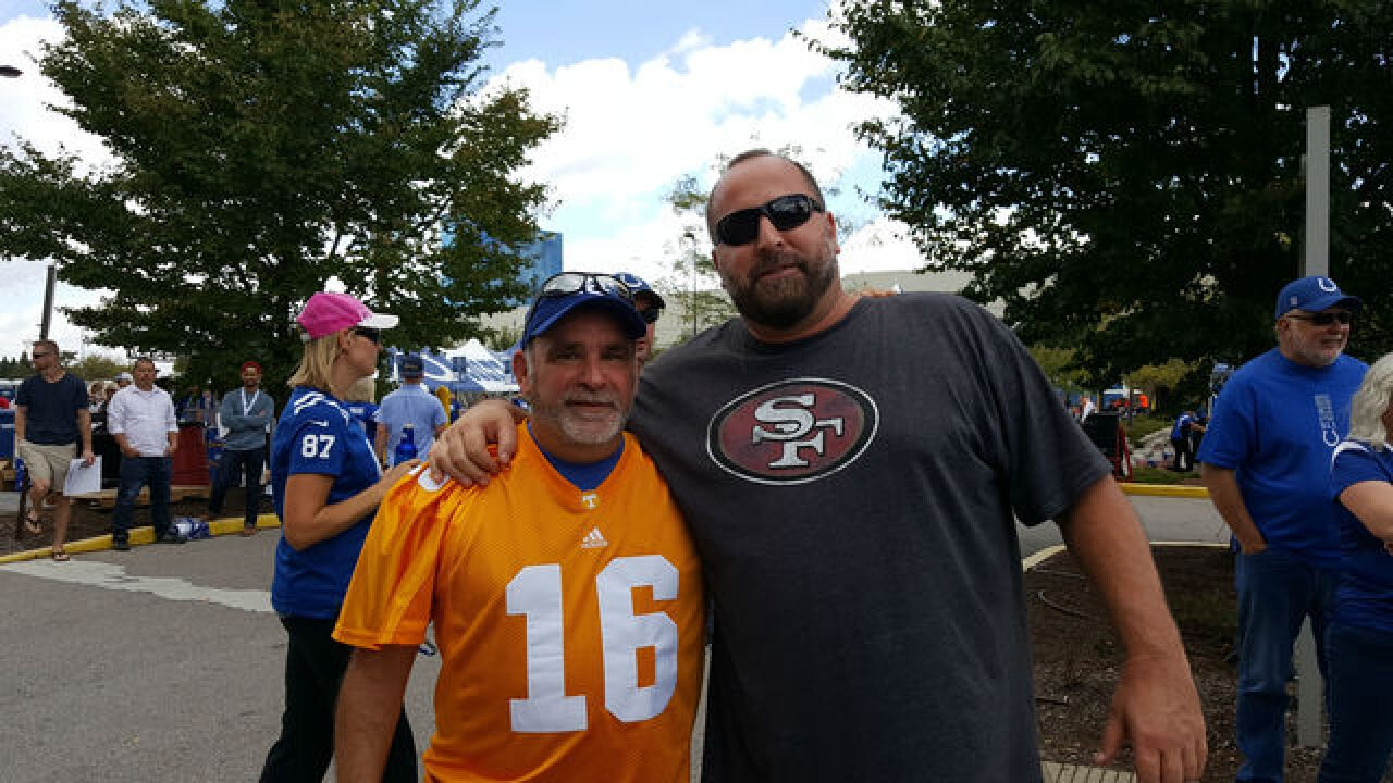 Out-of-state brothers attend Colts game, Manning statue ceremony 'I can't believe I'm here.'