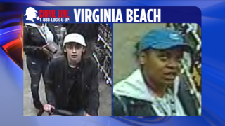 Police in Virginia Beach trying to identify suspects accused of stealing alcohol concealed in baby stroller
