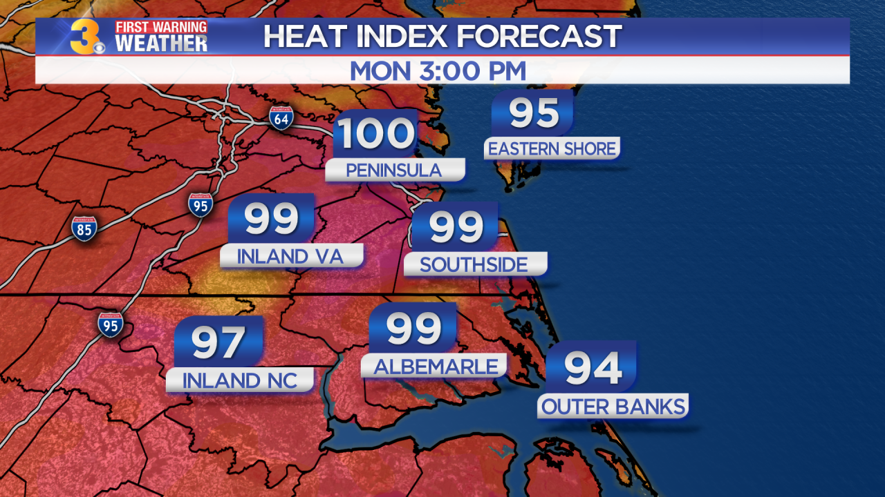 Monday's First Warning Forecast: Extreme heat, humidity, and storms